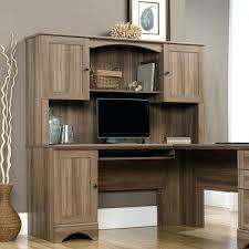 sauder orchard computer desk with hutch carolina oak sauder corner computer desk with hutch harbor view salt oak corner