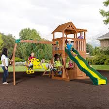 backyard discovery skyfort ii all cedar playset the home images on