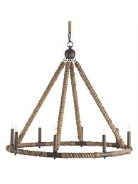 Nautical Rope Chandelier Nautical Rope Chandelier Cottage Home
