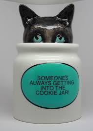 Home Decor Goods Details About Hiding Cat Ceramic Cookie Jar Home Decor Goods