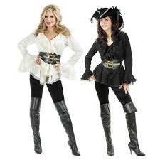 Halloween Shirt Costumes Pirate Shirt Womens Blouse Female Costume Halloween Fancy