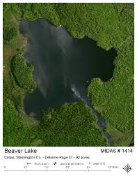 Beaver Lake Map Lakes Of Maine Lake Overview Beaver Lake Calais Washington