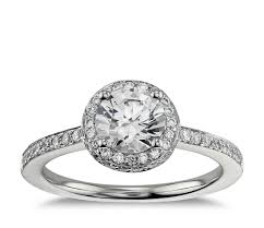 halo engagement ring settings halo engagement ring in 18k white gold blue nile