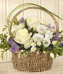 flower basket blue bundle of new baby flowers flower basket