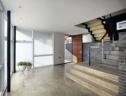 4 level split house architecture minimalist entrance space in the split level house