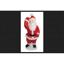 general foam blow mold santa christmas decoration red white
