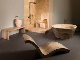 modern bathroom natural stone forest unique bathroom design