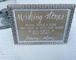 wishing stones wedding custom lettered wedding sign wishing stones guest book