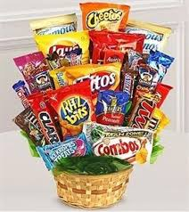 snack gift basket a green thing artisitic designs by ultimate snack attack basket