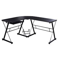 black l shaped computer desk home office l shape computer desk pc wood laptop table workstation