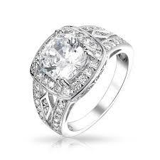vintage sterling rings images Sterling silver 4k cz vintage engagement ring jpg