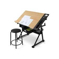 bureau a dessin bureau table à dessin avec tabouret doté de 2 grands tiroirs pour m