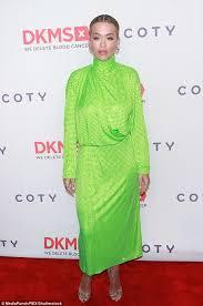 rita ora glows in sparkly green dress for big love gala daily