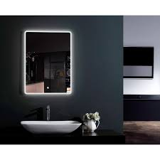 Demister Bathroom Mirrors by 800 X 600mm Illuminated Led Mirror With Demister Pad