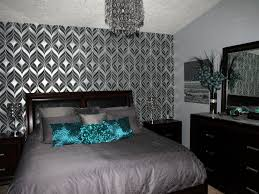 Black And Silver Bedroom by Modern Teal Bedroom Ideas And Pictures Best House Design