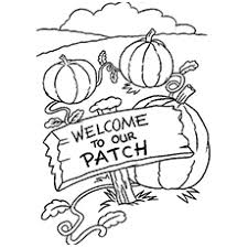 25 free printable pumpkin patch coloring pages