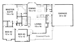 ranch style house plan 3 beds 2 5 baths 1586 sq ft plan 58 167