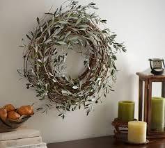 harvest olive wreath pottery barn