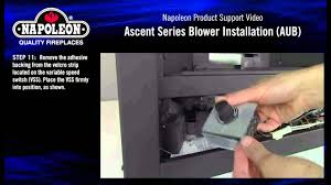napoleon ascent universal blower aub installation tutorial youtube