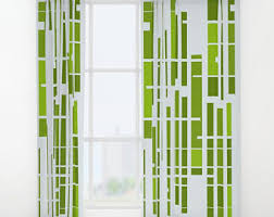 Retro Window Curtains Retro Curtains Etsy