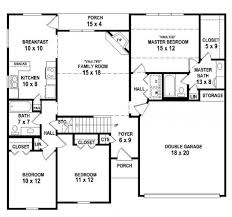 3 Bedroom 2 Bath 1 Story House Plans by 2 Bedroom One Bath House Plans Nrtradiant Com