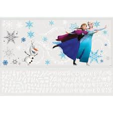roommates 5 in x 19 in frozen custom headboard featuring elsa frozen custom headboard featuring elsa anna and olaf 144 piece peel and stick giant wall decal rmk2738gm the home depot
