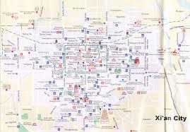 map of xi an xian city tourist map xian china mappery