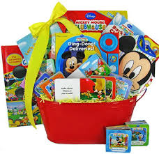 personalized mickey mouse easter basket mickey mouse book basket baby shower or christmas