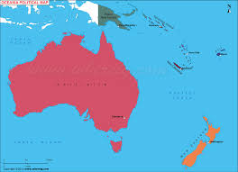 map of australia and oceania countries and capitals oceania map political map of australia and oceania