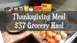 37 thanksgiving meal grocery haul aldi walmart family of 4