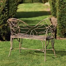 Metal Garden Furniture Tendril Metal Garden Loveseat Oka