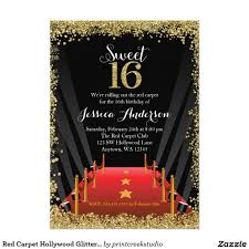 Sweet 16 Photo Invitation Cards Remarkable Hollywood Invitation Card 51 In Quotes For Wedding