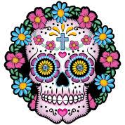 dia de los muertos sugar skull hoodie spreadshirt