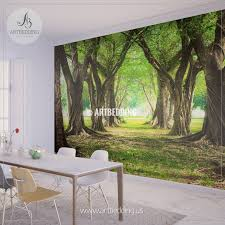 green wall murals gallery home wall decoration ideas wall murals wall tapestries canvas wall art wall decor tagged magic forest green wall mural self
