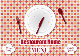 retro restaurant menu design download free vector art stock