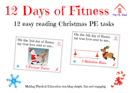 12 days of fitness pe task card activity by thepeshed