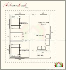 House Square Footage 500 Square Feet House Plan With Elevation Architecture Kerala