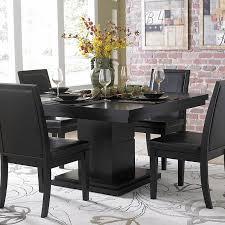 weston black square pedestal dining table furniture bar modern