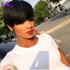 layered hairstyles with bangs for african americans that hairs thinning out indian straight short human hair wigs no lace african american bob
