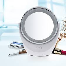 round makeup mirror with lights portable led makeup mirror with light double sided pocket lighted