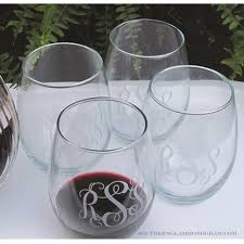 stemless wine glasses personalized stemless wine glass southern glam monogram