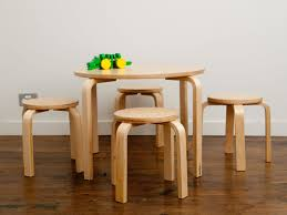 childrens table and stools how to make log table and chairs the home redesign