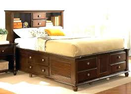 bed and living headboard with storage spacious living room inspirations queen