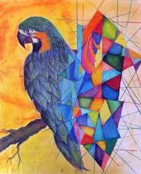 cubism colours cubism bird colours kunst cubism