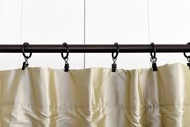 3 inch curtain rings with clips 2 wood