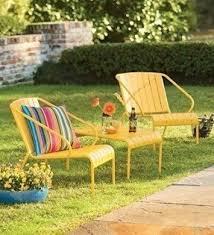 Backyard Furniture Set by Steel Patio Furniture Sets Foter