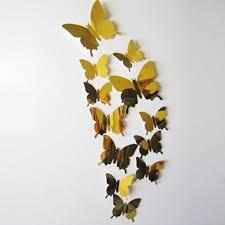 Butterfly Office Decor Modern Diy Analog 3d Mirror Surface Large Wall Sticker Clock Home