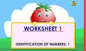 kindergarten learning numbers worksheets number 1 youtube