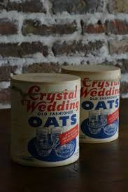 wedding oats vintage wedding oats box set 8 pieces of oatmeal