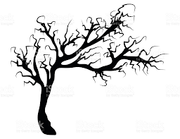 scary halloween clipart halloween creepy scary bare tree vector symbol icon design stock